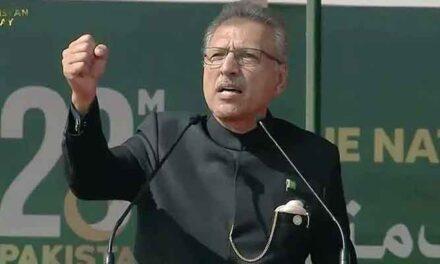 'Pakistan stands with Kashmir,' President Arif Alvi affirms in Pakistan Day parade