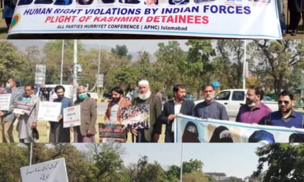 APHC-AJK holds protest in Islamabad against India