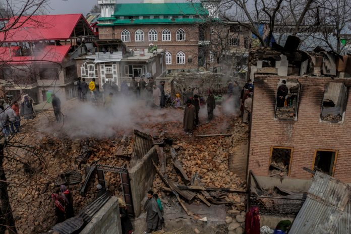 A deluge of destruction in lengthy Kashmir gunfight