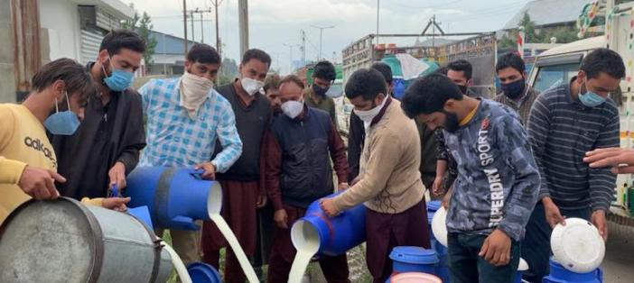 Why are Kashmiri Farmers Dumping Milk in Drains?
